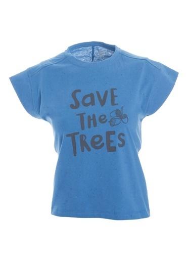 Sportive Girlnoptee Çocuk Koşu Tişört G10003-Ptr Mavi